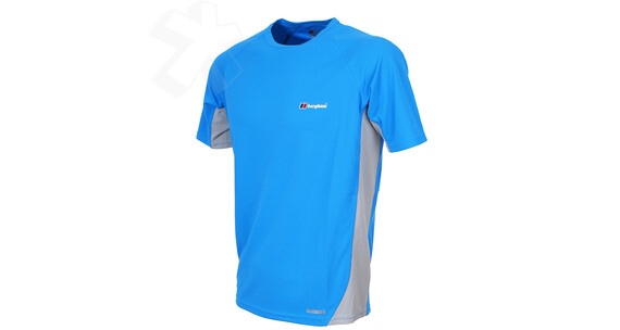 Berghaus Men's Relaxed S/S Crew blue lagoon/silver